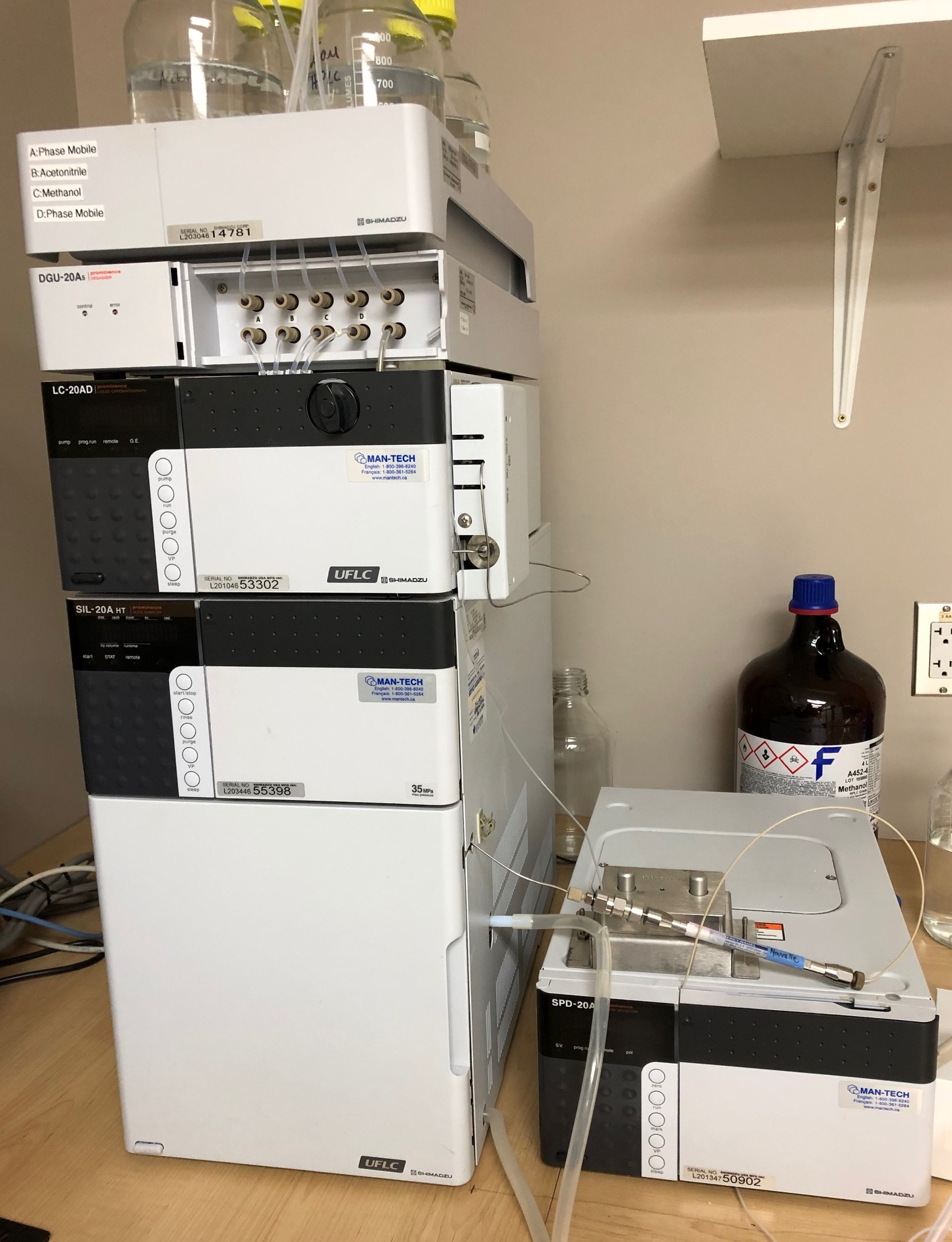 Shimadzu Prominence 20 HPLC System Including Software and Spare Parts